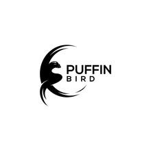 Puffin Bird Logo Design Vector