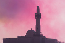 Islamic Mosque In The Hazy Col...