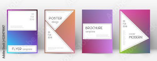 Flyer layout. Stylish emotional template for Broch Canvas Print