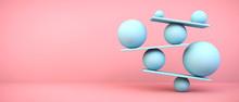 Blue Balancing Balls