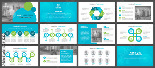 Obraz Presentation templates, corporate. Elements of infographics for presentation templates. Annual report, book cover, brochure, layout, leaflet layout template design.	 - fototapety do salonu