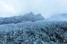 Majestic China Snow Mountain.Stunning Chinese Natural Landscape.Mountainous Landscape.