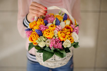 Creative Basket With Bright Sp...