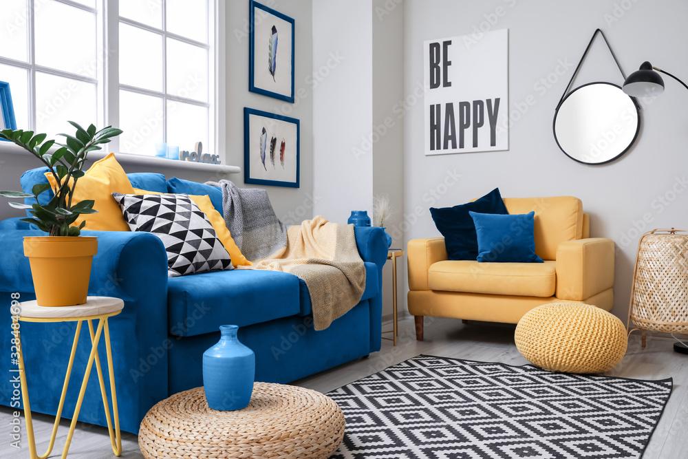 Fototapeta Stylish interior of living room