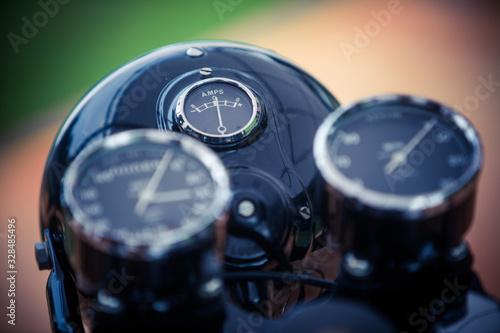 Photo Motorcycle ampere meter gauge
