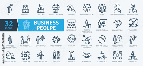 Photo Business People Icons Pack