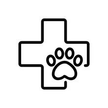 Pet Clinic Icon Vector. Thin L...