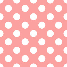 Pink Seamless Pattern Polka Do...
