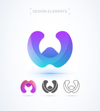 Letter W And M Logo Icon Colle...