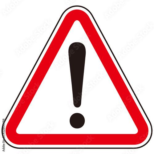 hazard sign icon vector triangle Canvas