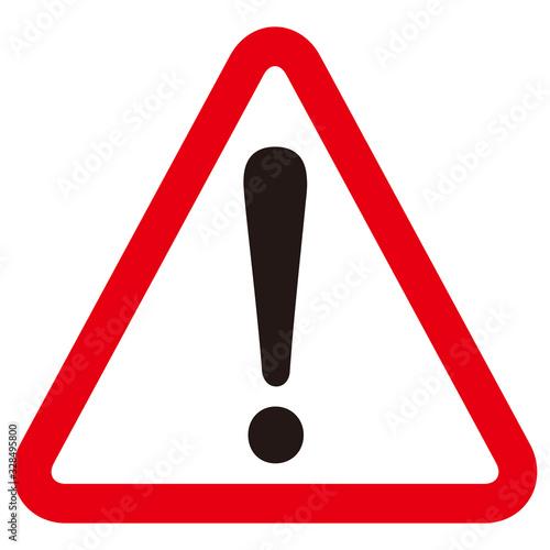 Photo hazard sign icon vector triangle