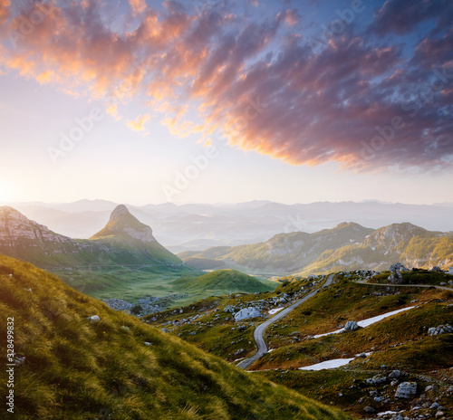 Wall mural - Idyllic summer day in the Durmitor National park. Montenegro, Europe.