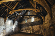 Interior Of An Old Medieval Barn In A Typical Village In England