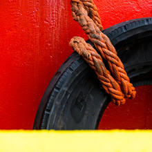 Detail Of Boat Tyre And Rope, ...