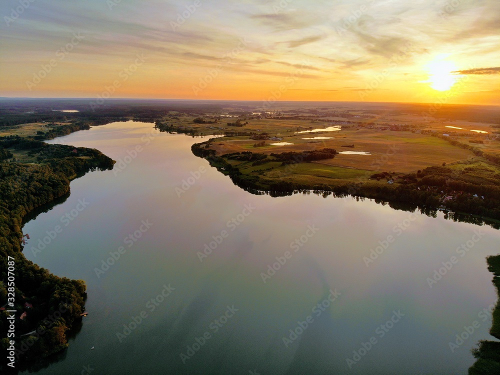 Fototapeta Lake Sunset