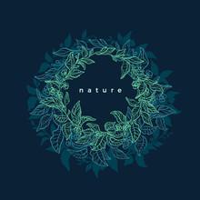 Green Nature. Circle Symbol. V...