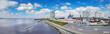 Skyline Bremerhaven aus der Luft