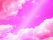 Leinwandbild Motiv Abstract cloud sky background with pastel style