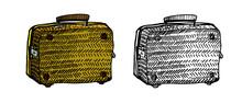 Vintage Suitcase. Monochrome A...