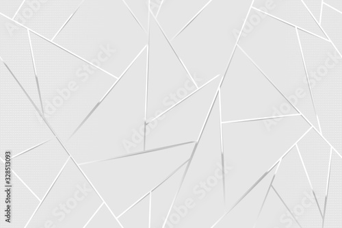 Obraz Abstract white chrome lines background - fototapety do salonu