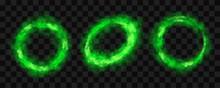 Green Smoke Circles, Round Glo...