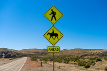 Pedestrian And Horse Crossing ...