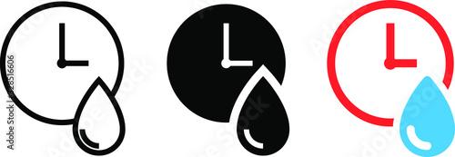 Fototapeta Quick drying icon, vector illustration obraz
