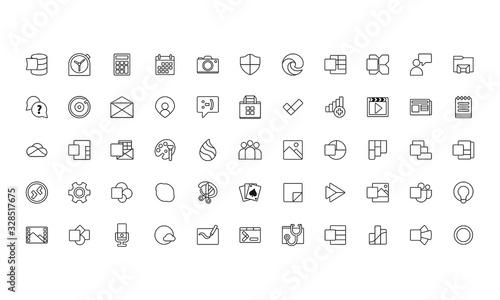 Платно set line icons design flat vector