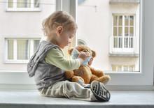 Child In Home Quarantine Playi...