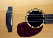 Acoustic Guitar Details Close Up