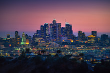 Los Angeles Downtown Silhouett...
