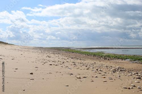 Canvas Print Jolie plage de sable fin a maree basse a Sainte-Marie de Re, Ile de Re