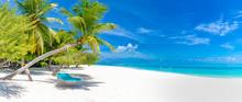 Tropical Beach Panorama As Sum...