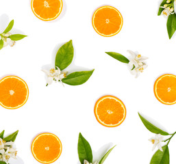 Blossom and fruit of orange
