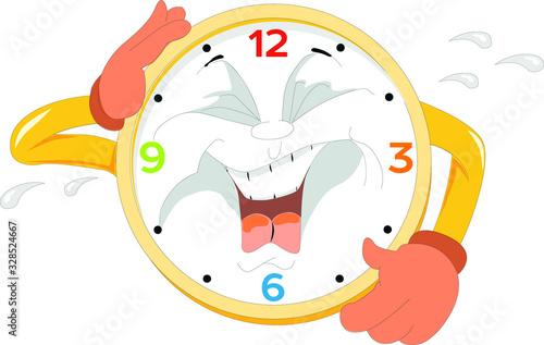 Ilustración vectorial reloj que ríe Canvas Print