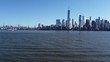 New York City Skyline Drone Left Right Pan