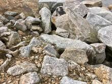 Huge Mined Stones Dumped On Th...