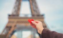Heart In Hands Near The Eiffel...