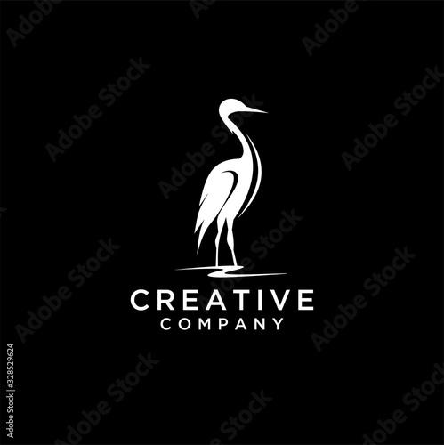 Obraz na płótnie Heron logo icon template design in Vector illustration, , animal consult logo te
