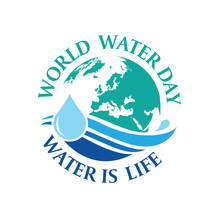 World Water Day , Save The Water Logo Design Template