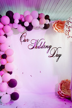 Photo-wall With Text Our Weddi...