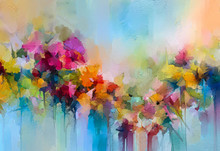 Abstract Colorful Oil, Acrylic...