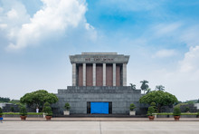 Architecture Building Ho Chi Minh Mausoleum Place Of Revolutionary Leader In Center Of Ba Dinh Square