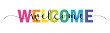 WELCOME Vector Rainbow-colored...