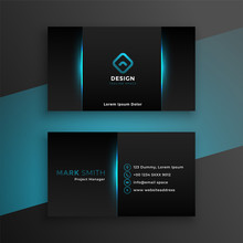 Abstract Black Business Card D...