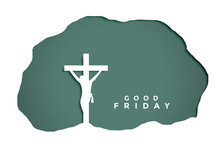 Good Friday Background In Papercut Style Design