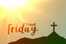 Good Friday Cross Background W...