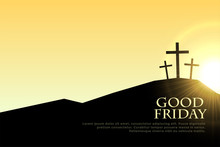 Good Friday Cross Signs With S...