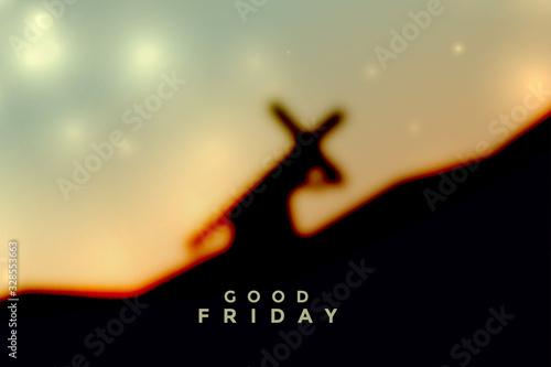 Fotografija jesus christ carrying cross good friday background