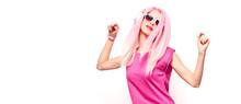 DJ Girl Hipster, Pink Fashion ...